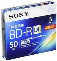 SONY ビデオ用ブルーレイディスク 5BNR2VJPS6(BD-R 2層:6倍速 5枚パック)
