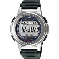 [シチズン キューアンドキュー]CITIZEN Q&Q 腕時計 SOLARMATE (ソーラーメイト) 電波ソーラー デジタル表示 クロノグラフ 10気圧防水 シルバー MHS5-300 メンズ