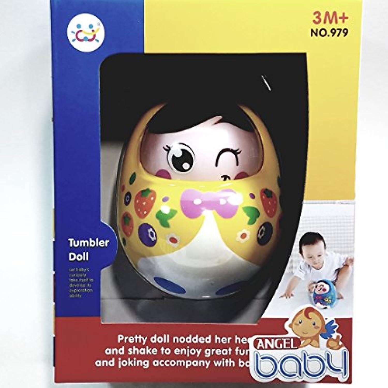 Angel Baby CuteイエローWinkingタンブラー3 to 6ヶ月ミュージカル幼児用おもちゃ