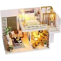SODIAL DIYミニチュア木製ドールハウス家具キットおもちゃ手作りクラフトモデルキットミニチュアドールハウスおもちゃギフトfor Children