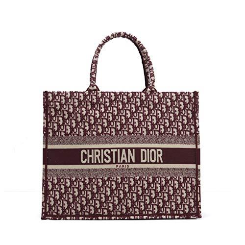Dior(ディオール) オブリークブックトート キャンバスブックトートバッグトロッター柄 バッグ DIOR BOOK TOTE (ボルドー系) [並行輸入品]