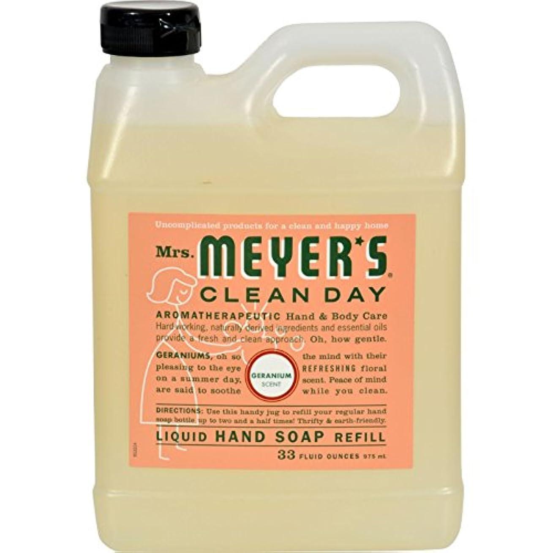 ベルベット落ち着くドライバMRS. MEYER'S HAND SOAP,LIQ,REFL,GERANM, 33 FZ by Mrs. Meyers
