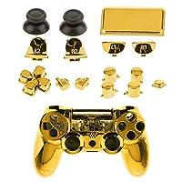 KESOTO PS4 Proコントローラ用 シェルケース ボタンセット フルハウジング 金色
