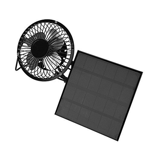 扇風機 ソーラー ポータブル ファン 卓上扇風機 ミニ US...