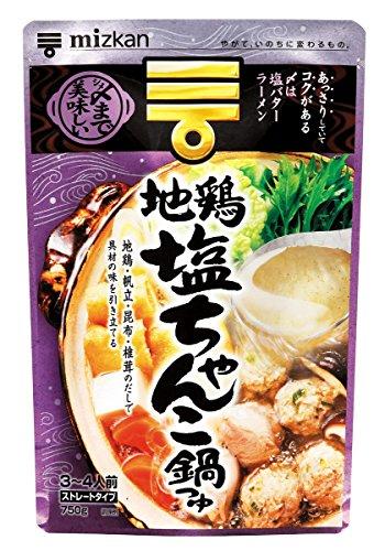 〆まで美味しい 地鶏塩ちゃんこ鍋つゆ 750g 12個セット