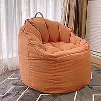 ビーンバッグチェア ラウンジャー 寮の椅子 にとって リクライニング ソファー ベッド にとって ホーム、 オフィス 子供部屋 豆の袋 CJC (Color : Orange)