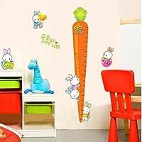 Weaeo サイトウサギニンジンウォールステッカーハイトチャートの子供の養樹園の部屋の装飾の教室の壁に貼ったポスター壁画幼稚園装飾が施されている。