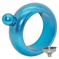 LifeONワインブレスレットFlasks for Liquorの女性with Funnel ブルー YMX1-H100015-2