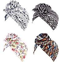4Pcs Chemo Headwear Beanies Chemo Caps Cancer Headwear Cap hat Head Scarf for Womens Mens