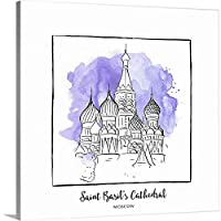 "Inner円ギャラリー‐ Saint Basil 's Cathedral – Brushstroke Buildings 30"" x 30"" 2415494_1_30x30_none"
