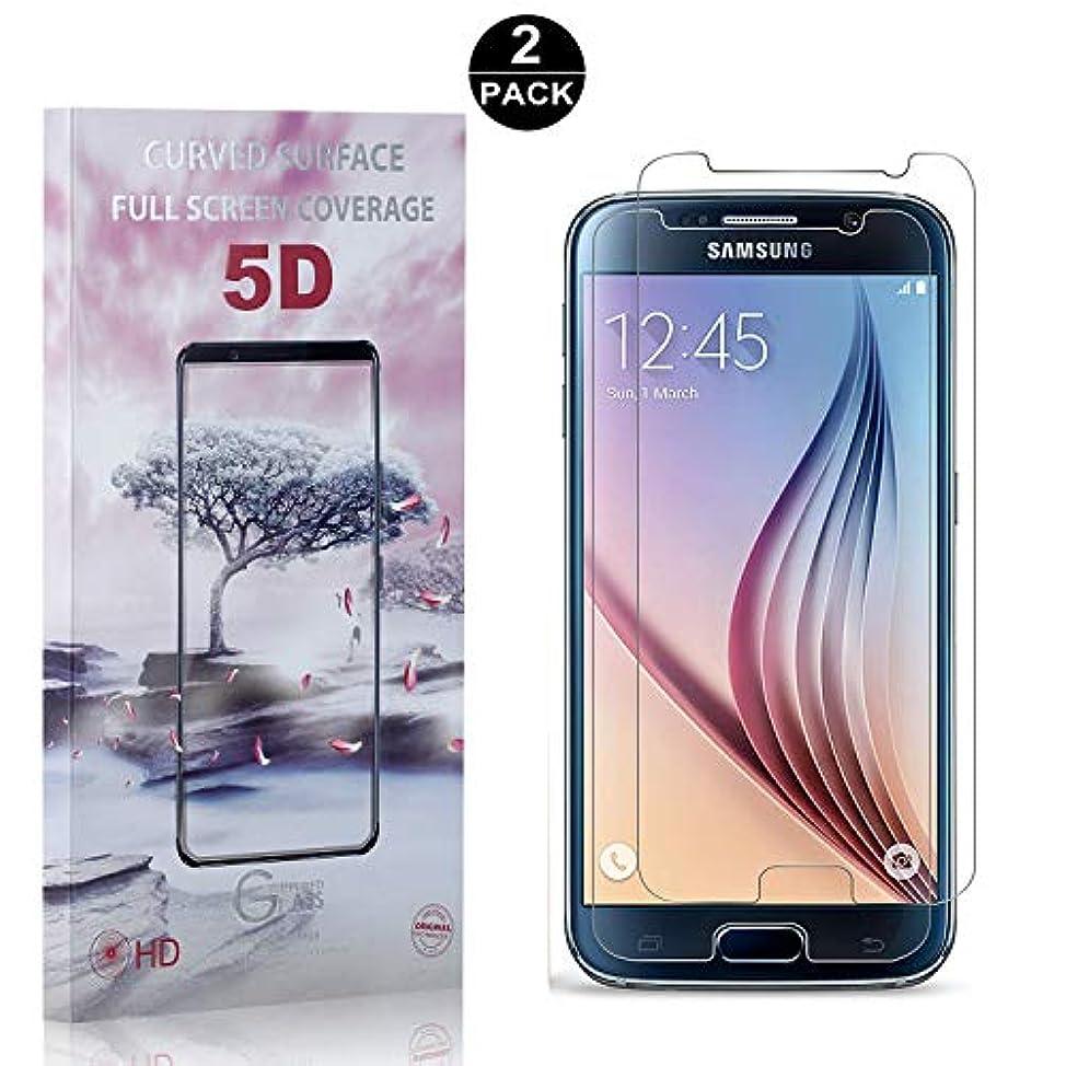 和らげる解任重くする【2枚セット】 Galaxy S6 硬度9H ガラスフィルム CUNUS Samsung Galaxy S6 専用設計 強化ガラスフィルム 高透明度で 99%透過率 気泡防止 耐衝撃 超薄 液晶保護フィルム