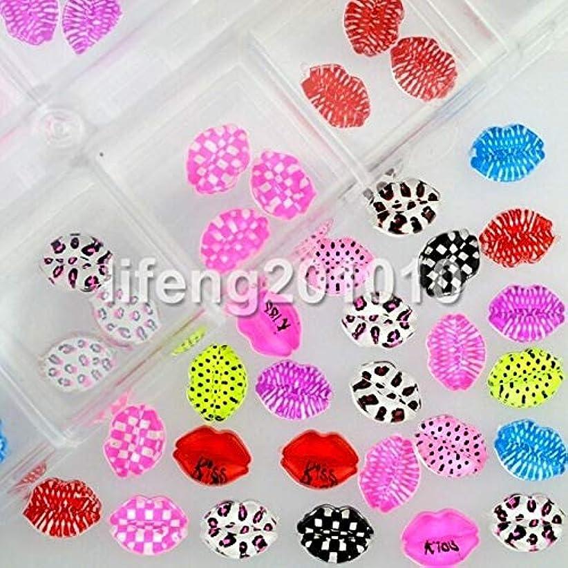 飛行機指紋なるFidgetGear 60ピースネイル樹脂ラインストーン3dネイルアートdecoartionsヒョウリッププリントデザイン