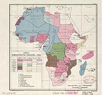 1950マップアフリカ、管理部門、1950。–サイズ: 24X 24–する準備フレーム–アフリカ|アフリカ