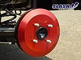 ドレスアップローターカバー:リアドラム用1セット(2枚)■アルト HA36S用【赤色】