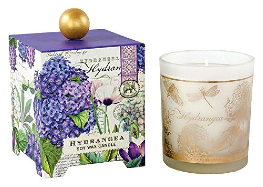 穀物アリ力強いMichel Design Works アロマキャンドル Lサイズ (ハイドランジェ) 香り:ハイドランジェ MDCAN209