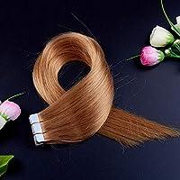 FidgetGear Remyの人間の毛髪延長7A 40cmの継ぎ目が無いPUの皮のよこ糸の方法16インチテープ #27濃い金髪