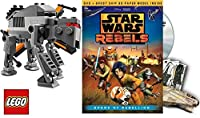 Star Wars Lego Rebels: Spark of Rebellion Animated Movie DVD & FIRST ORDER SPECIAL FORCES LEGO TIE FIGHTER + 3D Ghost Ship Sci-Fi Set [並行輸入品]