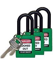 "Brady 123335 Lockout Padlock, Keyed Alike, 1/4"", Green [並行輸入品]"