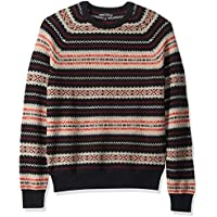J.Crew Mercantile Men's Fair Isle Lambswool-Nylon Crewneck Sweater