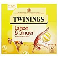 Twinings Revive and Revitalise Lemon and Ginger Tea Bags 120g, 80 Tea Bags (pack of 4, 320 teabags)