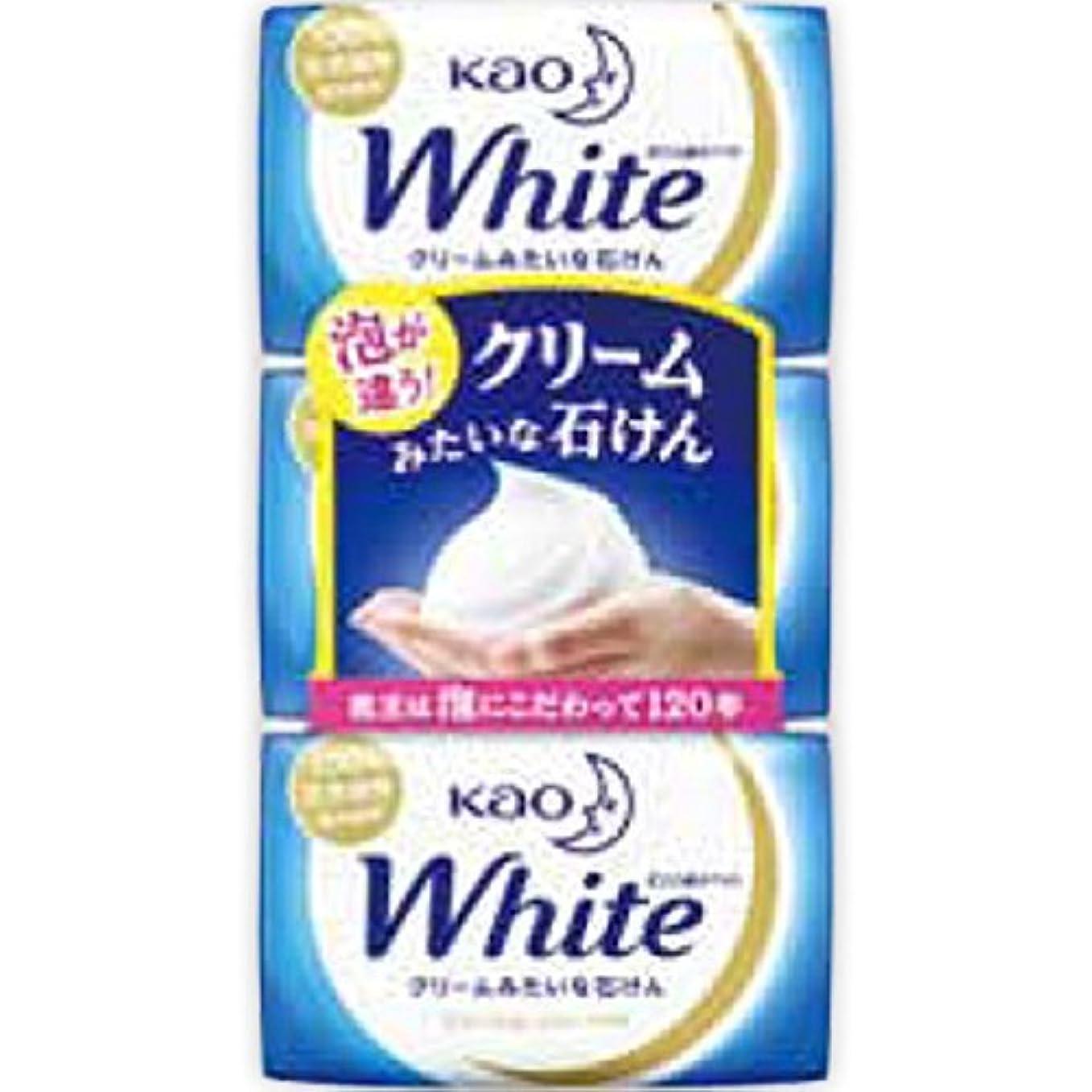 寮初心者カウントアップ花王ホワイト レギュラーサイズ 85g*3個入