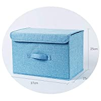 小さな折りたたみ生地収納ボックスワードローブ下着収納ボックス下着ブラジャーソックス収納ボックス,洗える青空大