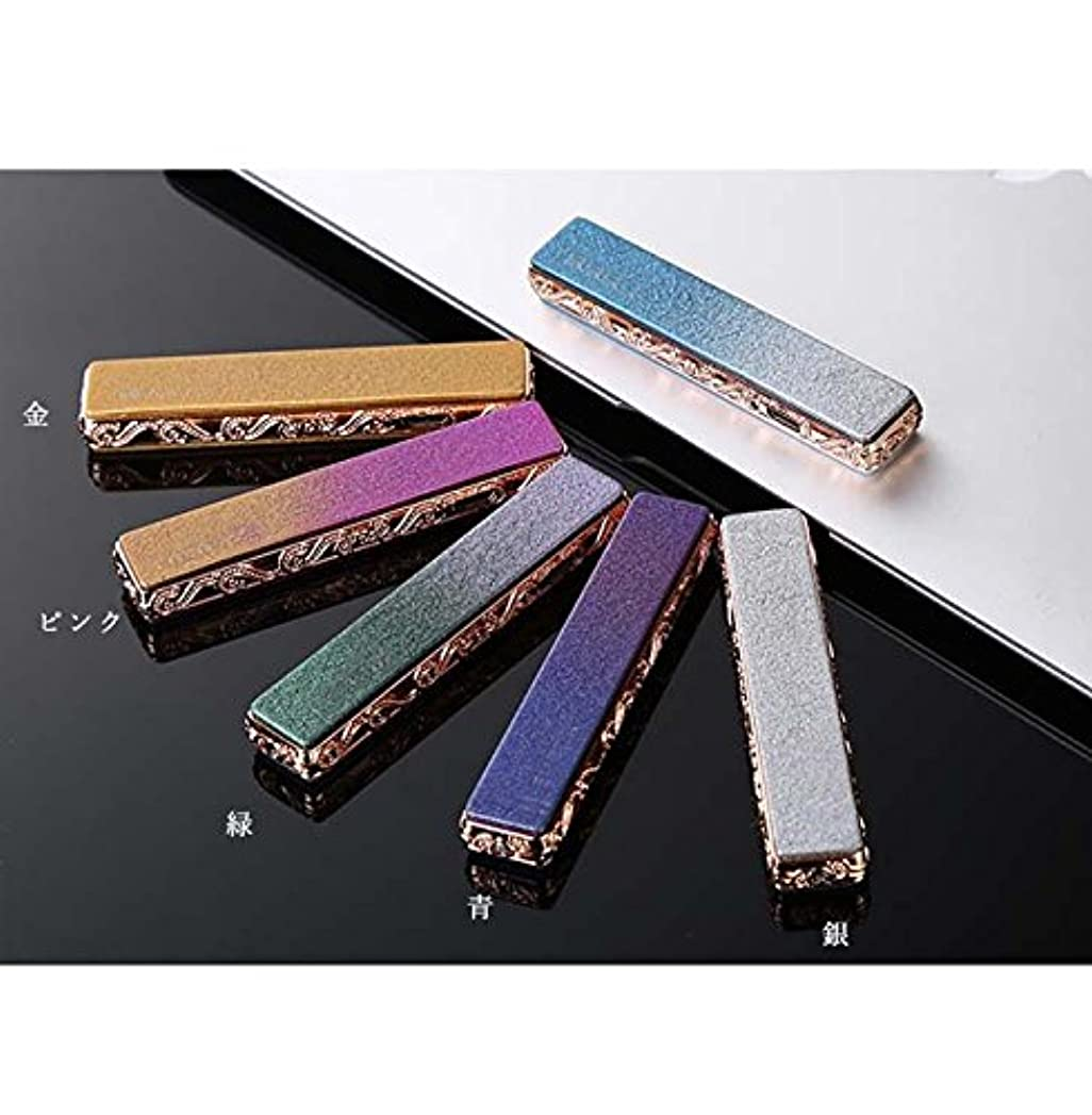 展示会ナット公式54AM 電子ライター 充電式 USB デザイン性の高いお洒落ライター (緑)