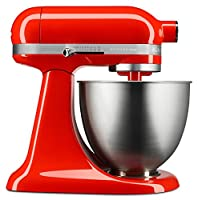 KitchenAid キッチンエイド スタンドミキサー KSM3311XHT Artisan Mini Series Tilt-Head Stand Mixer, 3.5 quart [並行輸入品] (Hot Sauce)