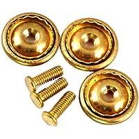 ピンバッジ製作用の部品 ネジ式 長さ 8ミリ 真鍮 3組で1セット