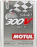 MOTUL (モチュール) 300V POWER (パワー) 5W40 100%化学合成 (エステルコア) エンジンオイル 2L (並行輸入品) 103132