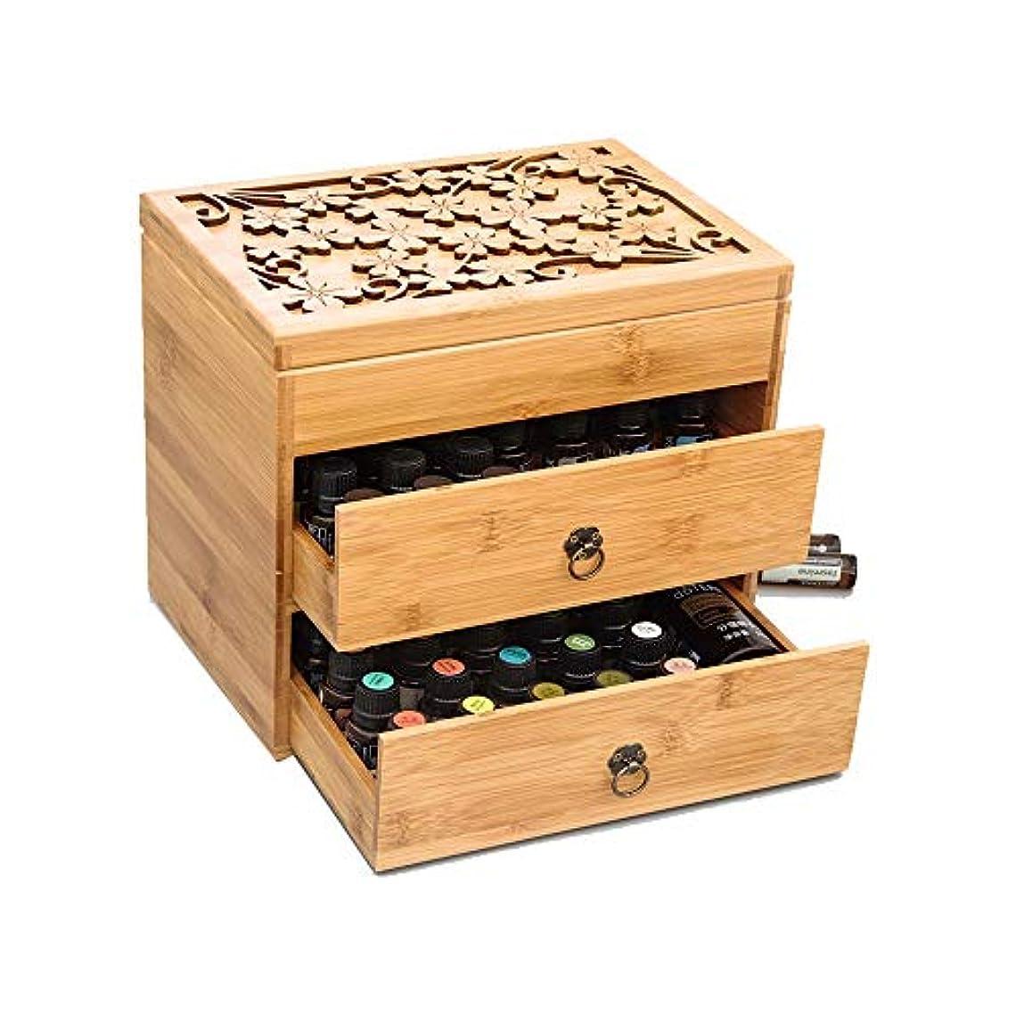 微生物階下泥精油ケース 3ティアエッセンシャルオイルボックスケースは、エレガントな装飾的なデザインでは5、10&15ミリリットルボトル木製収納を保護します 携帯便利 (色 : Natural, サイズ : 26X18X24.5CM)