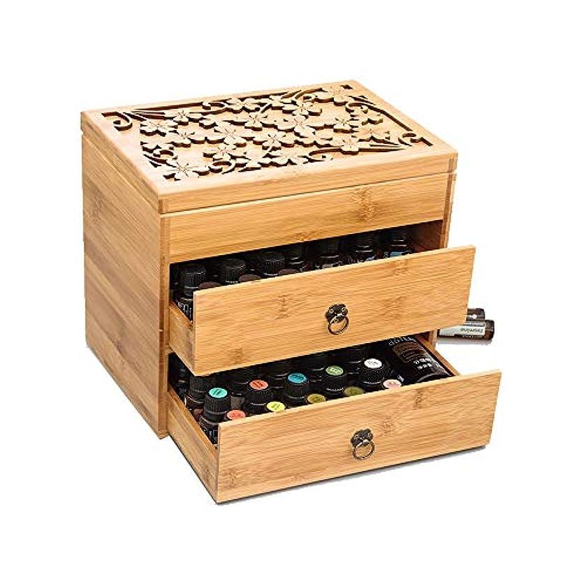 傾斜急襲ノーブルエッセンシャルオイルストレージボックス 3ティアエッセンシャルオイルボックスケースは、エレガントな装飾的なデザインでは5、10&15ミリリットルボトル木製収納を保護します 旅行およびプレゼンテーション用 (色 : Natural...
