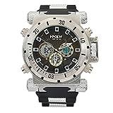 [ビンズ] BINZI ファッション腕時計, ビッグフェース 多機能 防水 アナデジ 日付 ledライト付き クロノグラフ ミリタリー パイロット HP-S メンズ(ブラウン)
