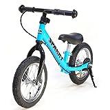 【組立済】【4色から選べる】 ブレーキ付 ペダルなし自転車 キッズバイク SPARKY バランスバイク (BLUE)
