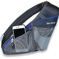 (Qui Arout) ランニングポーチ ペットボトル収納 スポーツ ランニング マラソン ジョギング サイクリング