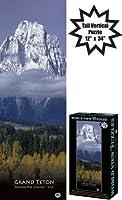 """Grand Teton World View Verticalジグソーパズル12"""" x 34"""""""
