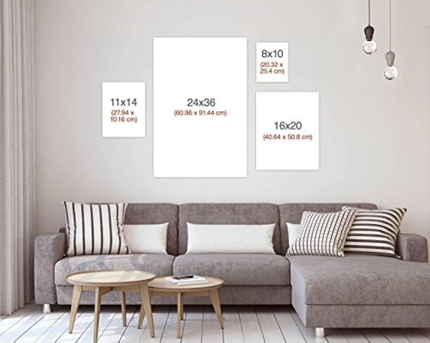 不公平提供振るうWestlakeアート美しいBrunette – キャンバス印刷ウォールアート – ギャラリーラップ伸縮キャンバス現代画像写真アートワーク – Ready To Hangインチ 16x20 in ホワイト