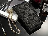 Gucci iPhone 6/6s,iPhone 6/6s plus,iPhone7/8,iPhone 7/8 plus,iPhone X ケース スマホケース・カバー レザー 革 携帯カバー脱着簡単 保護カバー(iphone 7/8,Black)