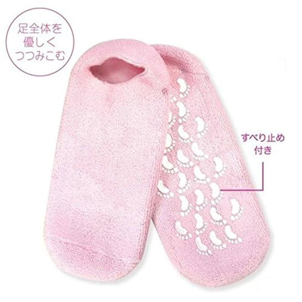 ファウルぐるぐる広告主ぷるぷるジェルソックス NC41331 フットケア 靴下  寝ている間にガサガサ肌にうるおい かかとのひび割れに かかとケア