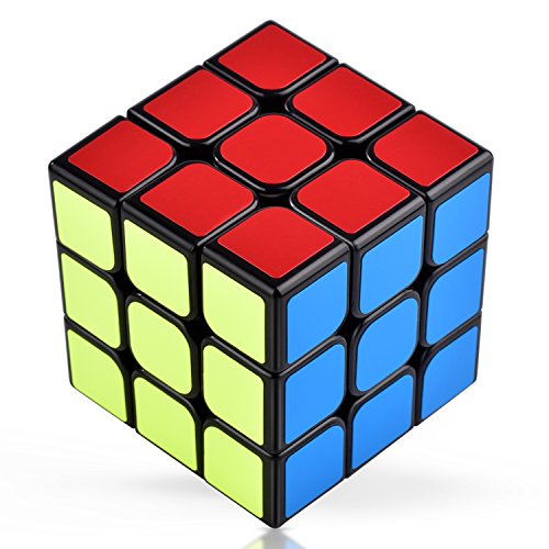 VAVACO スピードキューブ 3x3x3 競技用 立体パズル 世界基準配色 黑素体 ポップ防止 回転スムーズ 6面完成攻略書付き