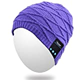 (BB013-Purple)Qshell Mens,Womens Outdoor Bluetooth Music Beanie Hat for Android Phones,Tablets.Android携帯電話、タブレット用の屋外Bluetooth音楽ビーニーハット。 [並行輸入品]