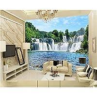 Hnyyj3Dロマンチックな滝3D水壁画ステレオ風景寝室リビングルームの壁の背景3Dの壁紙-300cmX210cm