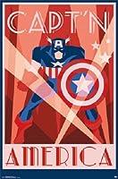 キャプテンアメリカ -コミックポスター - 22x34 MARVEL平行輸入