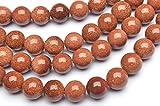 【 福縁閣 】ゴールドストーン 8mm 1連(約36cm)_R2038-8/A3-4 天然石 パワーストーン ビーズ