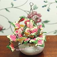 bobominiworldハンドメイドHanging花ドールハウスミニチュア装飾1 : 12スケール高さ6 cmホワイト