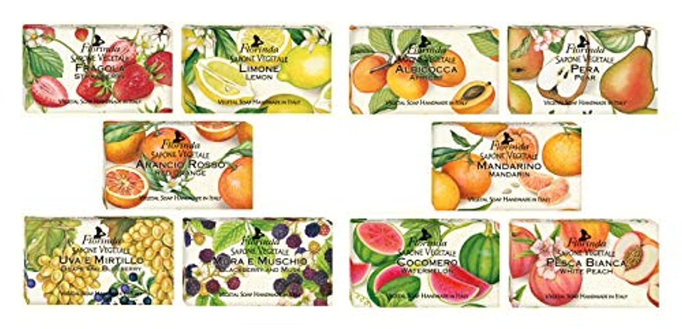 死傷者正規化光の【10種類セット】フロリンダ フレグランスソープ フルーツの香り 95g×10種セット