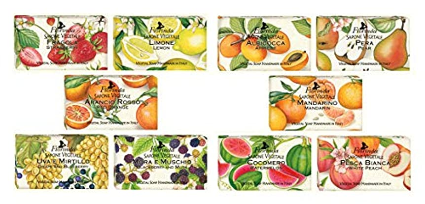 最初はロードブロッキングのため【10種類セット】フロリンダ フレグランスソープ フルーツの香り 95g×10種セット