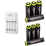 Amazonベーシック 充電式ニッケル水素電池 充電器セット 単3形充電池4個+単4形充電池4個パック付