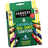 Sargent Art 35-0542 8 The Big Ones Wash-Crayons Peggable by Sargent Art