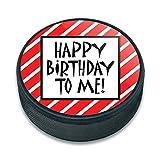 ハッピートゥ・ミー誕生日ストライプ赤面白いアイスホッケーパック